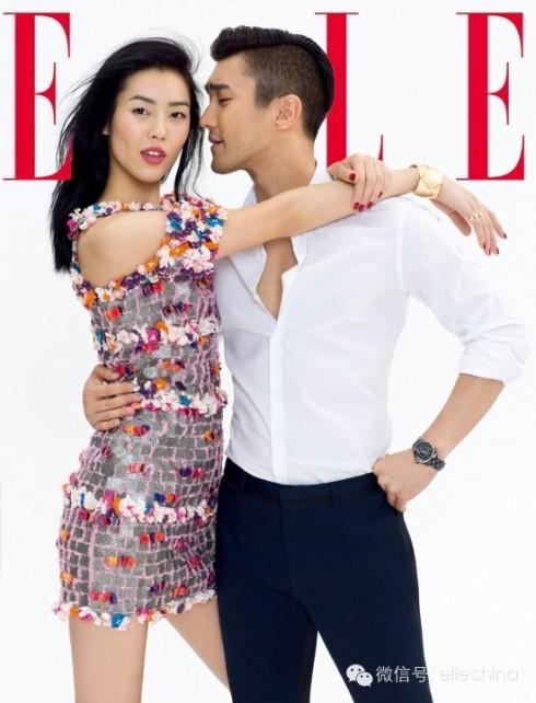 Siêu mẫu Liu Wen tràn đầy sức sống với chiếc đầm rực rỡ sắc màu, tươi vui của mùa hè. Kết hợp hài hòa với sự đơn giản trang nhã của Siwon. Stylist Katherine Cao. Tóc: Zhang Fan. Makeup: He Leidong.
