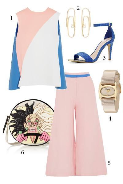 Thứ 5: Bạn có thể kết hợp áo nhiều màu sắc kết hợp với váy, quần một màu hay diện váy, quần nhiều màu sắc đi cùng với áo một màu. <br/>1. ROKSANDA 2. LAUREN KLASSEN 3. ALDO 4. SALVATORE FERRAGAMO 5. ROCKSANDA 6. OLYMPIA LE TAN