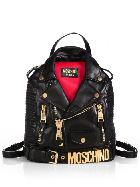 9. Leather Jacket Backpack - Moschino