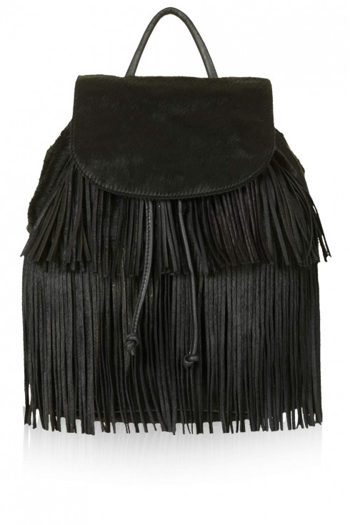 7. Premium Pony Tassel Backpack - Topshop