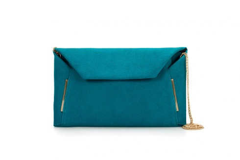 Blue Clutch Bag with Folded Edges – Zara