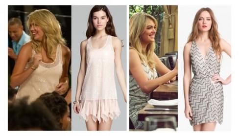 Trong các bữa tiệc thì đầm sequin là một sự lựa chọn hoàn hảo. Với đầm hồng nude nhẹ nhàng, trẻ trung của hãng Free People, có chất liệu bóng và lấp lánh, đã làm cho người mặc trở nên rất nổi bậc, và tôn đường cong gợi cảm sẵn có. Còn đầm sequin họa tiết zig-zag của hãng Parker Duet Beaded lại mang đến vẻ sang trọng.