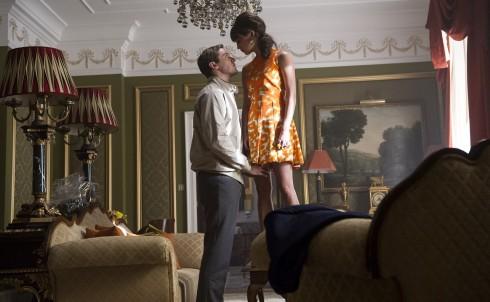 Một cảnh quay lãng mạn trong phim