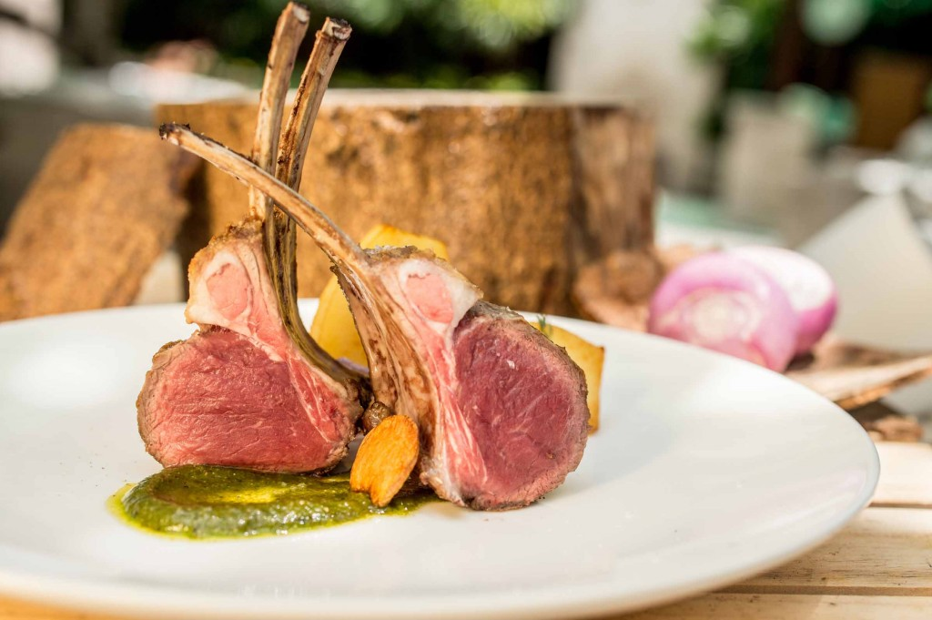Rack of Lamb, Rosemary and Salsa Verde