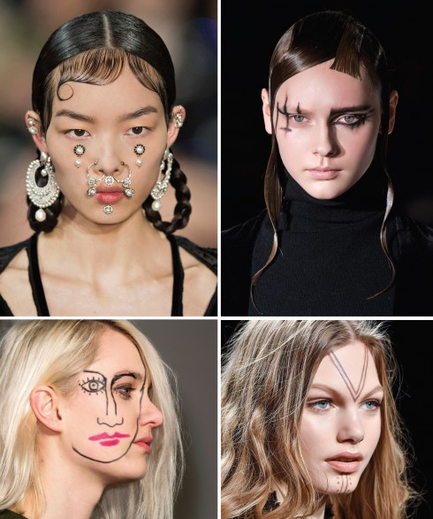 Theo chiều kim đồng hồ: Givenchy, Yohji Yamamoto, Jacquemus, Anna Sui
