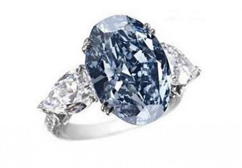 nhan kim cuong dep nhat the gioi Chopard Blue Diamond