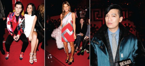Từ trái qua: DJ Leigh Lezark, BTV thời trang, stylist nổi tiếng Anna Dello Russo, Blogger thời trang Bryan Boy