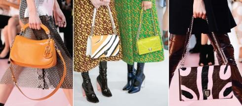 Mẫu túi Dune mới với thiết kế cong & mô-típ da báo được phóng to để trang trí cho những kiểu túi đặc trưng.