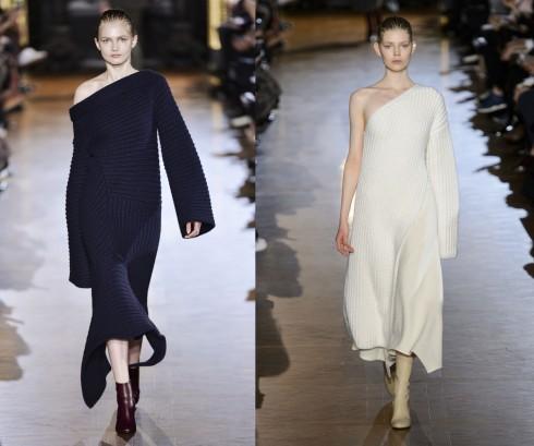 Cá tính với kiểu đầm len lêch vai của Stella Mccartney