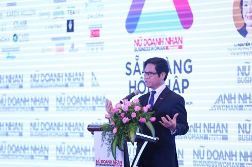 Ông Vũ Tiến Lộc - Chủ tịch VCCI phát biểu khai mạc diễn đàn