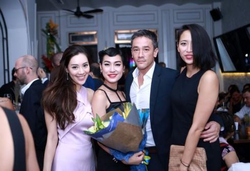 Đến tham dự sự kiện khai trương nhà hàng / Bar / Lounge Saigon Lookout lần này có rất nhiều người bạn thân thiết của Kathy Uyên