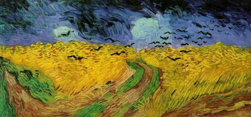 """Bức tranh """"Wheatfield with crows"""" của cố họa sĩ Van Gogh"""
