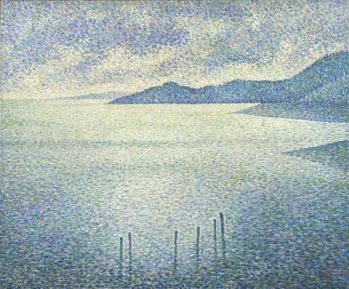 """Tác phẩm """"Coastal Scene"""" của Hoạ sĩ Théo van Rysselberghe."""