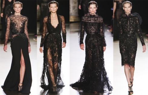 Đầm ren đen quyến rũ và huyền bí trên sàn diễn Elie Saab Haute Couture