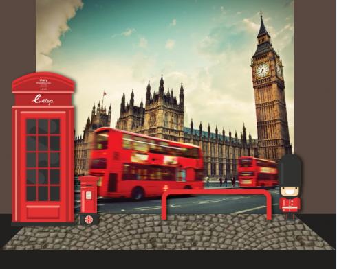 Khung cảnh Luân Đôn thu nhỏ