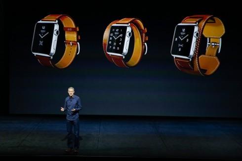 Ba mẫu Apple Watch Hermès trong ngày giới thiệu (từ trái qua):