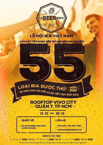Lễ hội bia Việt Nam tổ chức trên Rooftop