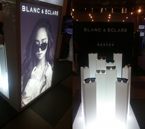 Một góc trưng bày accessories và eyeswear của Blanc & Eclare.
