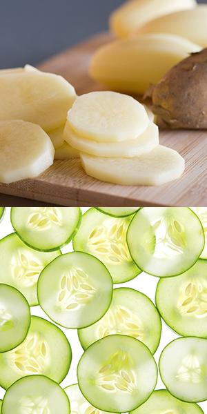 Mặt nạ khoai tây và dưa chuột