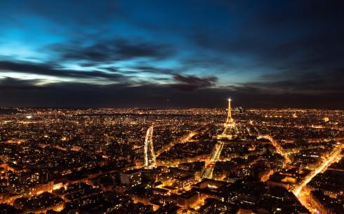 Một Paris tráng lệ lung linh về đêm
