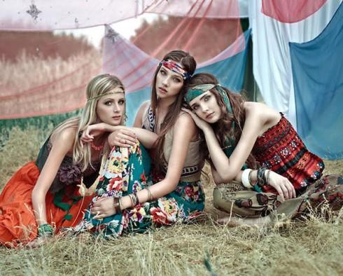 thoi trang thap nien 60 hippie fashion