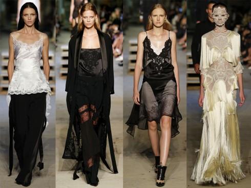 BST lấy cảm hứng từ đồ lót và tuxedo với hai màu chủ đạo là trắng và đen.