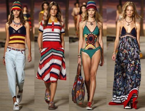 Kẻ sọc, hoa, bikini, váy maxi... sắc màu ấm nóng của BST chứa đưng tinh thần xuân-hè đầy lạc quan.