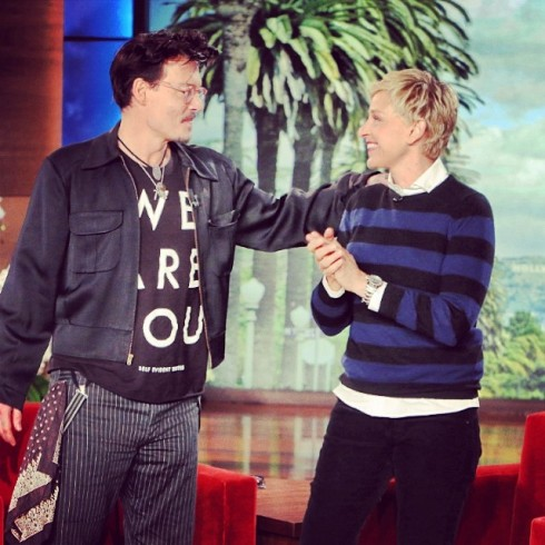 Johnny Depp on Ellen show - We are you