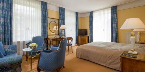 Không gian một phòng đôi của khách sạn.