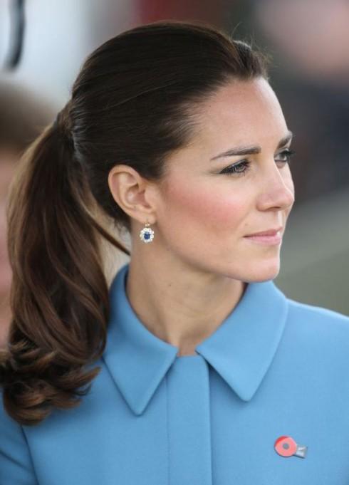 Kiểu tóc đẹp của công nương Kate Middleton - tóc đuôi ngựa
