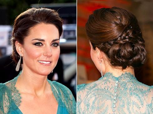 Kiểu tóc đẹp của công nương Kate Middleton - tóc búi