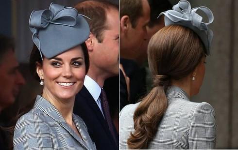 Kiểu tóc đẹp của công nương Kate Middleton - mũ