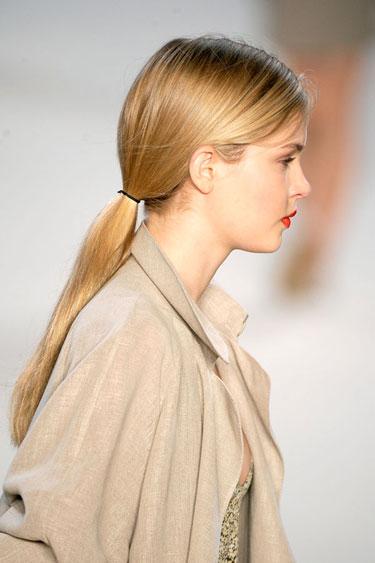 Kiểu tóc đẹp buộc thấp