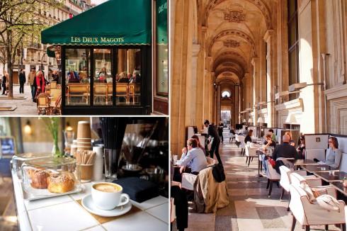 Vỉa hè Paris và những quán cà phê thân thuộc trở thành sàn diễn của những quý cô sành điệu.