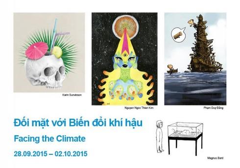 Một số tác phẩm sắc sảo và thú vị, cảnh báo về tình hình biến đổi khí hậu.