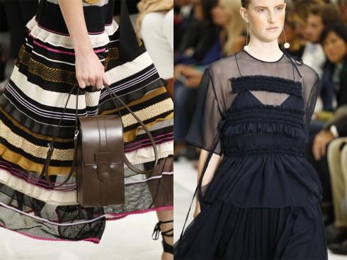 Chi tiết trang phục và một mẫu túi xách.