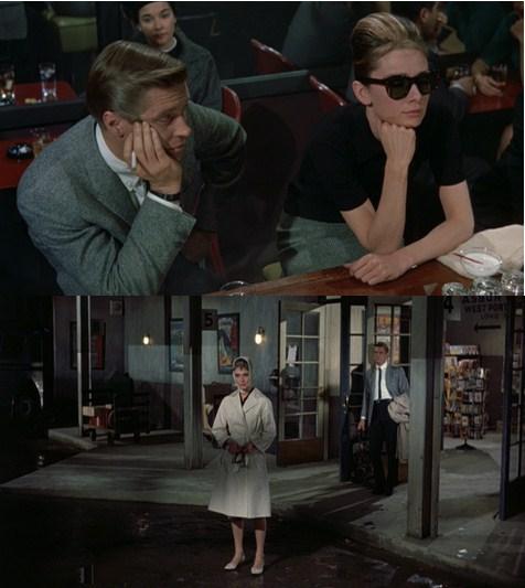 """phối với khăn trùm đầu quấn quanh cổ,bên trong là áo t-shirt Polo và chân váy họa tiết Herringbone cổ điển xuất hiện ở cảnh cuối của bộ phim """"Bữa sáng ở Tiffany"""", đã trở thành một trong những món đồ thời trang bất hủ của Audrey Hepburn."""