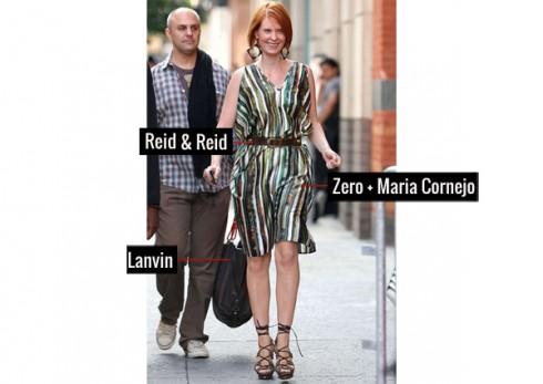 Một chút hoang dã với đầm của Zero + Maria Cornejo, thắt lưng Reid & Reid và túi xách của Lanvin.