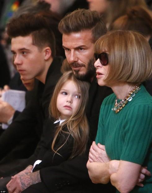 Tháng 2/2015, Harper nhìn bà Anna Wintour không chớp mắt.