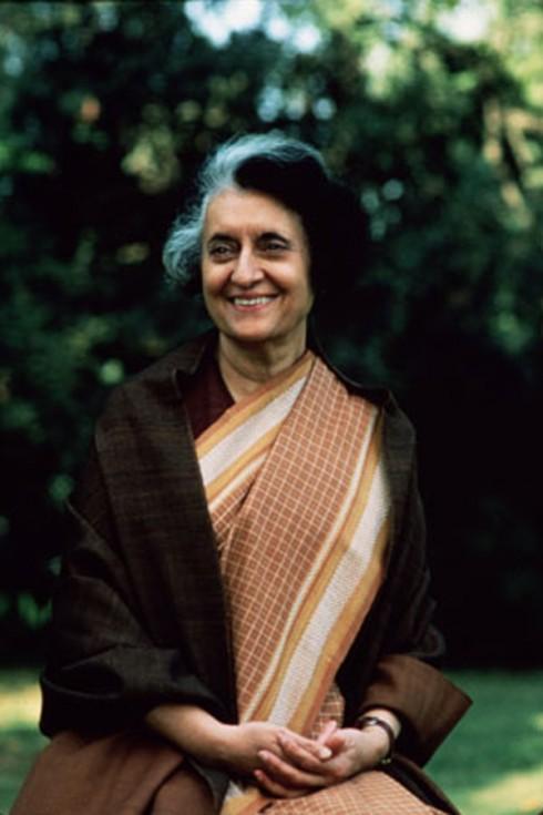 Nữ thủ tướng đầu tiên của Ấn Độ, Indira Gandhi.