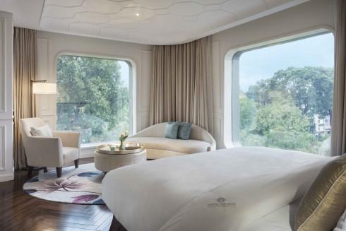 Phòng khách và phòng Suites được thiết kế thanh nhã