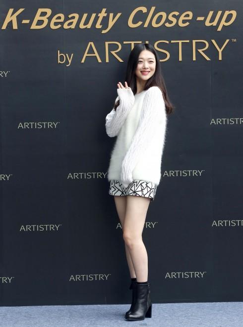 Nữ ca sĩ Sulli tại sự kiện K-Beauty Close-up