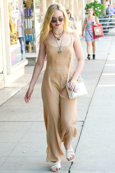 Elle Fanning out and about, Hollywood, Los Angeles, America - 18 Aug 2013