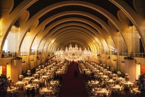 Quang cảnh nơi diễn ra lễ cưới của cặp đôi
