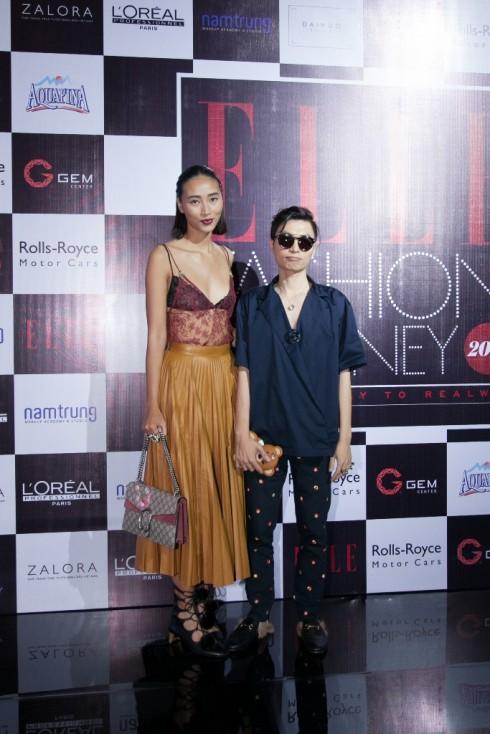 Người mẫu Huyền Trang & ELLE Managing Editor Nguyễn Danh Quý