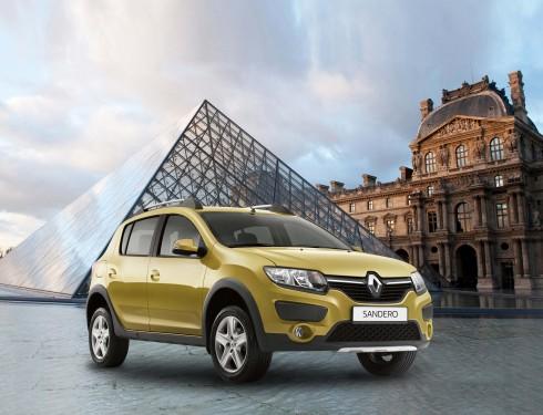 Renault Sandero Stepway lại là mẫu hatchback hiện đại với thiết kế rắn rỏi.