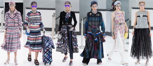 Karl Lagerfeld đưa Chanel trở thành điểm sáng nổi nhất Paris một lần nữa với cách sắp xếp tỉ lệ bố cục trang phục, kết hợp màu sắc với chất liệu vải rất khôn khéo.