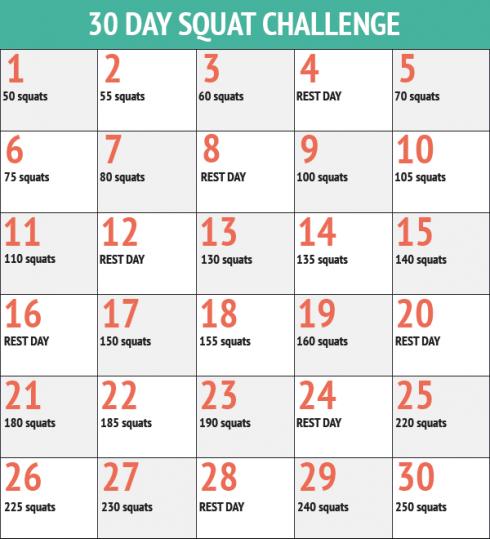Tập luyện đều đặn với động tác Squat theo lịch trình như trên sẽ giúp bạn sở hữu vòng 3 gợi cảm hơn