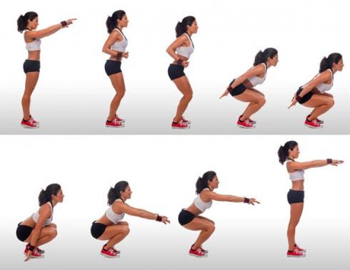 Duy trì tập Squat đều đặn sẽ giúp sở hữu vòng 3 và vùng đùi thon thả gợi cảm