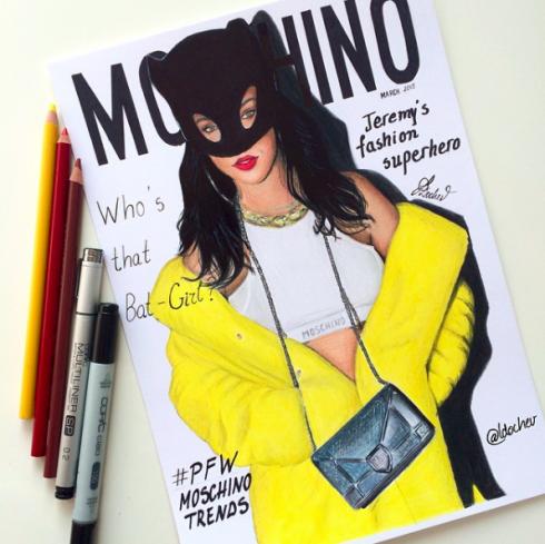 Rihanna trên bìa tạp chí Moschino